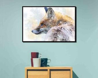 fox wall art , fox print , animal printables , woodland printables , woodland creatures , printable fox