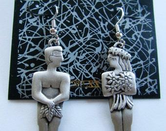 JJ Jonette Adam and Eve Garden Of Eden Pierced Earrings
