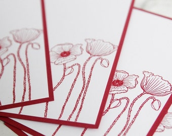Pink Flower All Occasion Note Card Set of Ten, Thank You Card, Floral Stationery, Greeting Card Gift Set, Cards for Teacher, Thinking of You