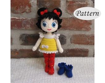 Amigurumi Hair Tutorial : Snow queen elsa amigurumi pattern crochet doll pattern