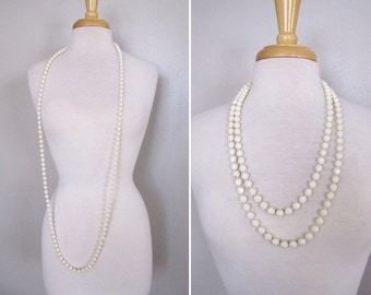 60s Faceted Necklace // Extra Long Bead Necklace // Layered Necklaces