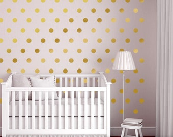 Wall Dots Nursery Decor Gold Dot Wall Decals Gold Vinyl Wall Dots 2.5 inch Peel and Stick Wall Dots to create a Nursery Dot Wall Pattern  sc 1 st  Etsy & Wall Decals u0026 Murals | Etsy