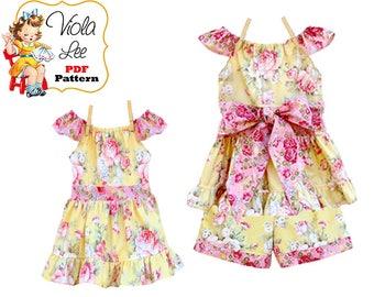 Girls Dress pdf Sewing Pattern. Toddler Dress Flutter Sleeves Pattern. Childrens Sewing Pattern. Toddler Summer Top Pattern, Tutorial Kristy