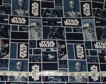 Star Wars R2D2 C3PO Logo Fabric - 1/3 yard