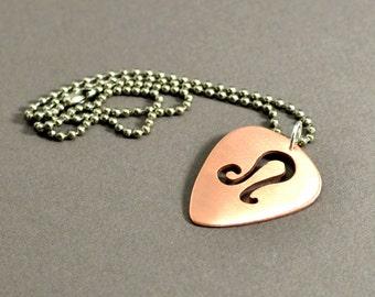 personalized Zodiac copper guitar pick necklace -NL561
