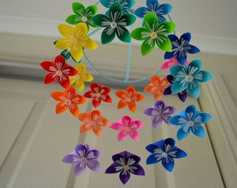 Etsy your place to buy and sell all things handmade rainbow kusudama flower origami baby mobile mightylinksfo
