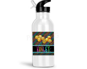 Emoji Sports Water Bottle | 20 ounce | Custom Design | Gift | Stainless Steel
