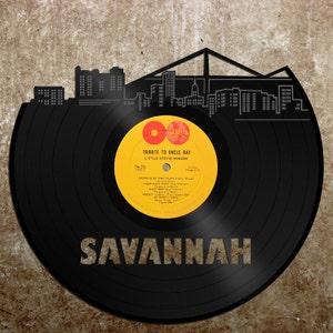 Savannah GA Skyline, Georgia Gift, Home Decor, Wall Art, Personalized Vinyl,