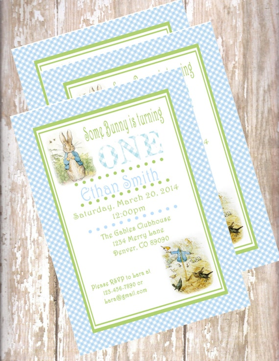 Peter rabbit birthday invitations beatrix potter bunny filmwisefo