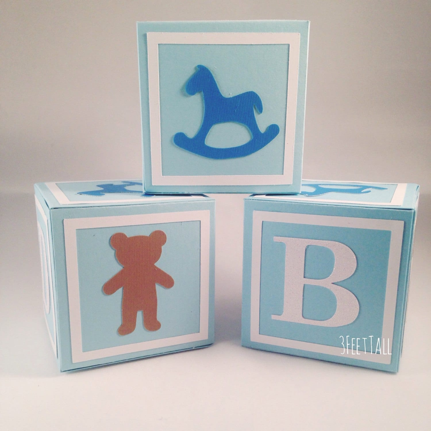 Medium alphabet blocks baby shower decoration party for Alphabet blocks cake decoration