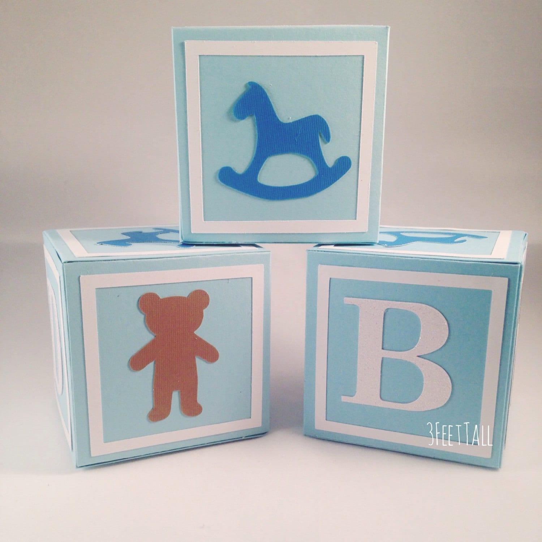 Medium alphabet blocks baby shower decoration party for Alphabet blocks cake decoration