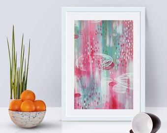 Rain - abstract - originale - abstract paint - wall art