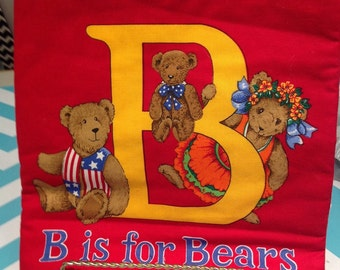 B is for Bear Fabric Book