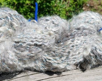 Handspun Lockspun Sprial plied Cotswold yarn