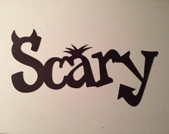 Scary Black Die Cut