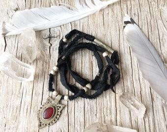 Collier ras de cou gypsy Bohème, bijoux tribal, cadeau pour elle, bijou ethnique hippie