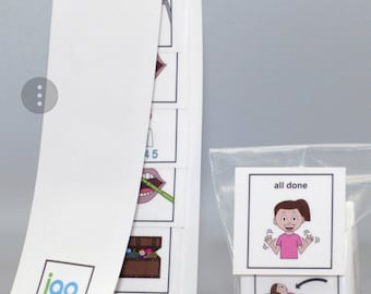 I Go To The Dentist Filling Girl PECS picture strip Autism book sold separately
