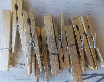 Glamour Gold Clothespins -