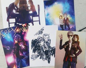 12/Clara Doctor Who Prints - Shenanigans & Such Set