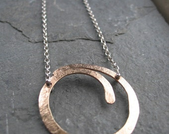 Swirl - Mixed Metal Necklace