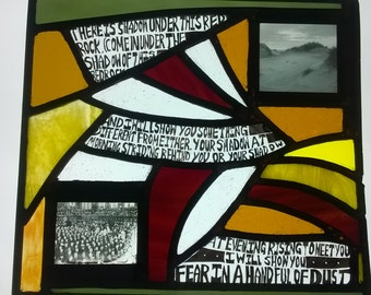 """Stained Glass - """"A Handful of Dust""""  - The Waste Land, T.S.Eliot"""