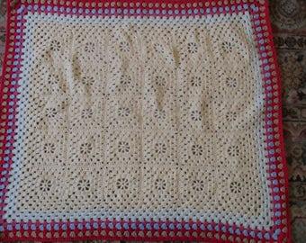 Granny Square Pram Blanket 29.5 x 34.5