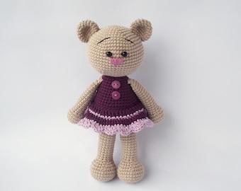 PDF Crochet Cute Teddy Girl - Doll Crochet Toy,  DIY tutorial