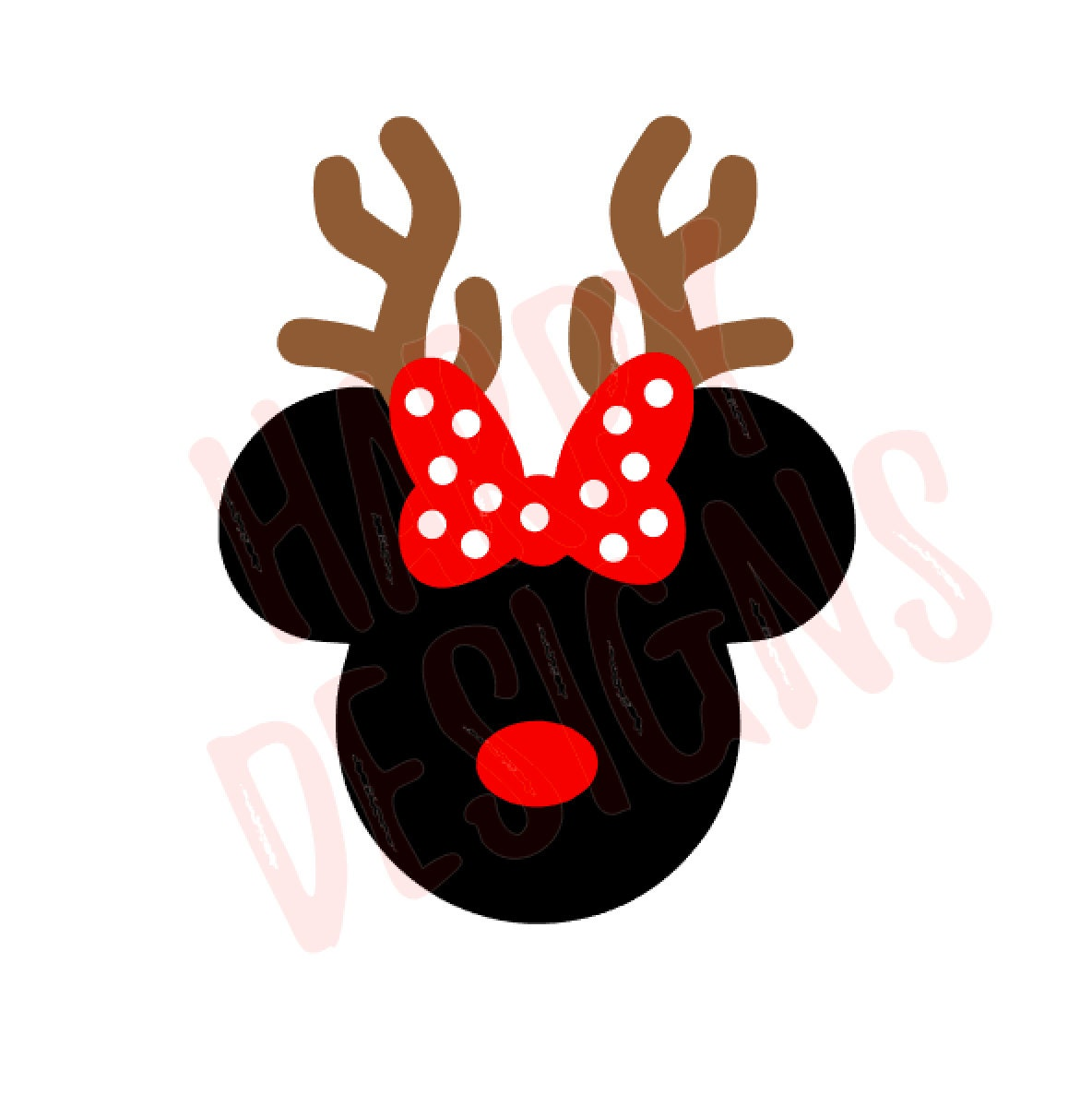 Reindeer minnie svg christmas svg minnie mouse ears svg - Minnie mouse noel ...
