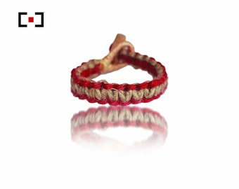 Reversible Red Hemp Bracelet