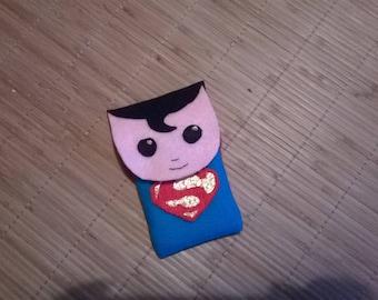 Superman felt phone case