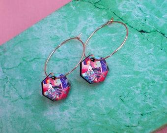 Thin delicate hoops, large hoop earrings, rose gold earrings, small gold hoops, rose gold jewelry, edgy earrings, fashion earrings,rose gold
