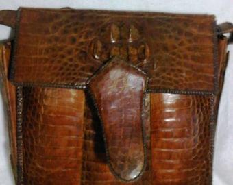 1960's crocodile bag