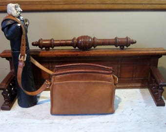 Etsy BDay Sale Coach Carlyle Bag In British Tan Leather Style No. 9854- Made In United States- VGC