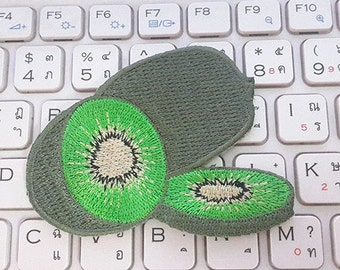Kiwi Embroidered Applique Iron on Patch