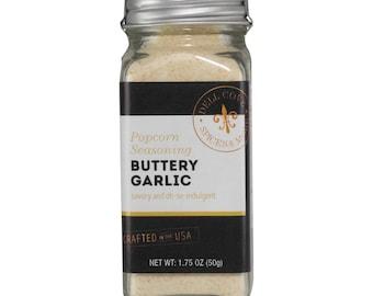 Buttery Garlic Popcorn Seasoning with Garlic Sea Salt