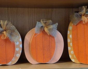 Fall decor, Autumn decor, seasonal decor, chunky pumpkins