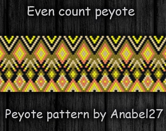 Even Count Peyote Pattern #113 -  peyote bracelet pattern - bead pattern