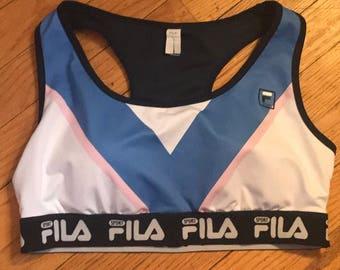 FILA Pink and Blue Sports Bra
