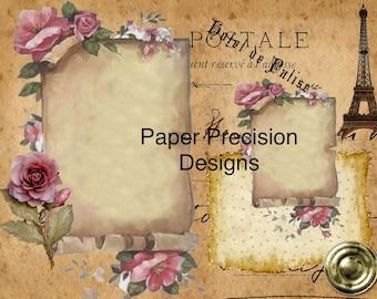 Vintage Paris  printable digital journal kit