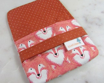 Sanitary Pad Holder, Fox Print, Tampon Case, Sanitary Pad Case, Tampon Holder, Sanitary Napkins, Period Case, Cotton and Steel, Swiss Cross
