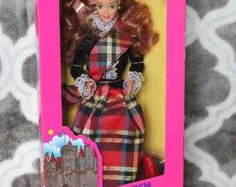 1991 Barbie Dolls of the World  Scotland Scottish # 9845