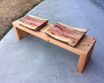 Redwood Butt Bowl Bench