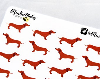 Daschund/ Sausage Dog Decorative Stickers