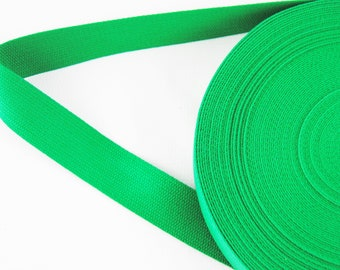 Carrying strap - belt - tape - binding tape - cotton - green