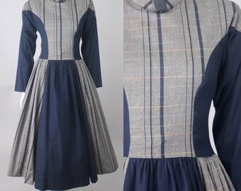 Crabtree plaid dress | vintage 60s plaid dress | vintage 1960s dress