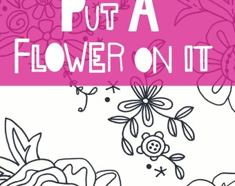 Flower embroidery pattern Pdf .Set of flower motifs.Printable pattern.Bluebell.Vintage flower.Vintage rose.DIY craft.Hand embroidery