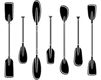 11 Paddle Clipart SVG Kayak Svg Paddles Silhouette