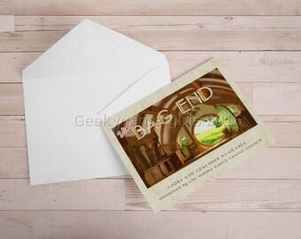 Bag End Travel notecard | 5x7 Greeting Card | LOTR Greeting card