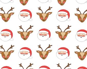 Santa & Reindeer 12×12 Scrapbook Paper