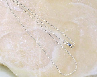Sterling Silver Rolo Chain Necklace, SALE- Discontinued, Delicate Link Chain 925 Silver- Only one 18 in Sterling Silver Chain left